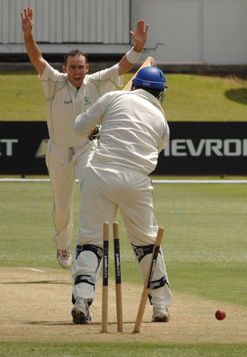 A wicket for Trent Johnston