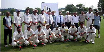 The winning UAE squad, photo courtesy of Asian Cricket Council