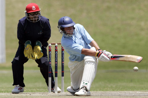 Northerns batsman sweeps the ball to the boundary