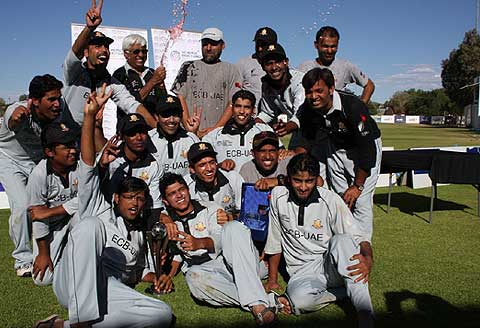 The winning UAE squad