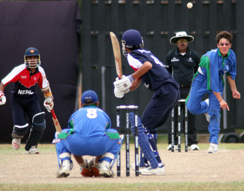 Action from Namibia v Nepal (Photo: CricketEurope)