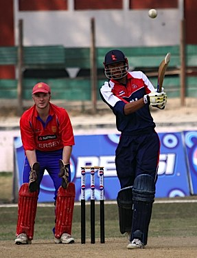 Smashed to the boundary by Khadka on his way to a match winning 69 (Photo: ICC)