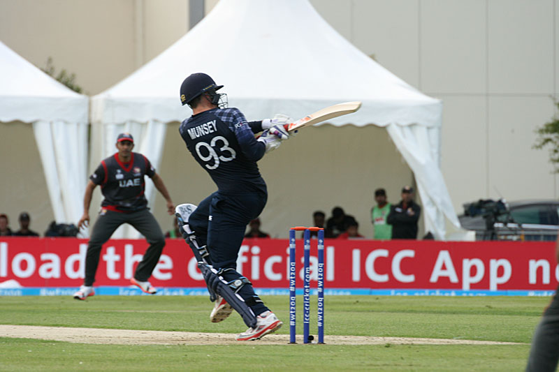 George Munsey during his 69 for Scotland against the UAE