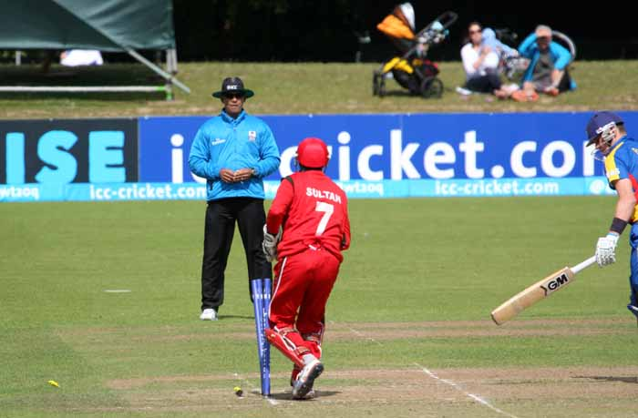 A stumping for Sultan Ahmed as Oman won against Namibia