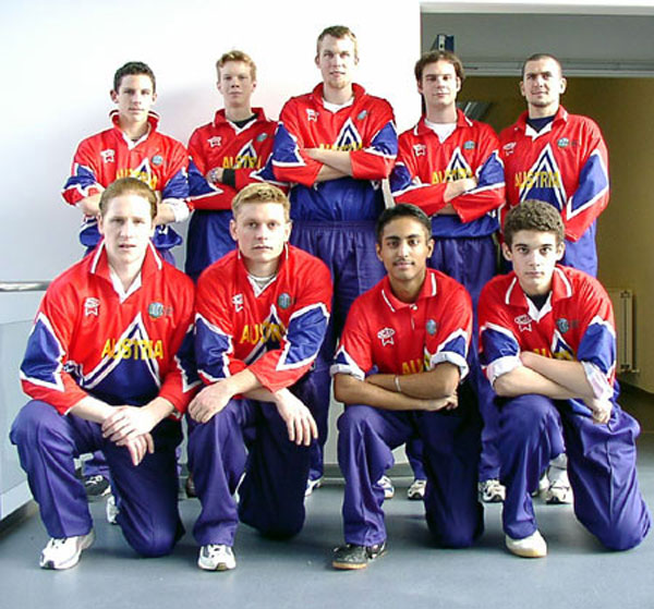 The Austrian squad at the 2003 European Indoor Championship
