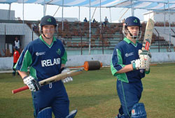 The Irish openers against Pakistan