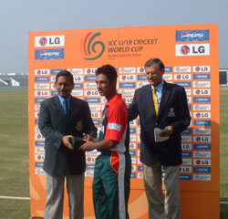 Man of the Match ceremony